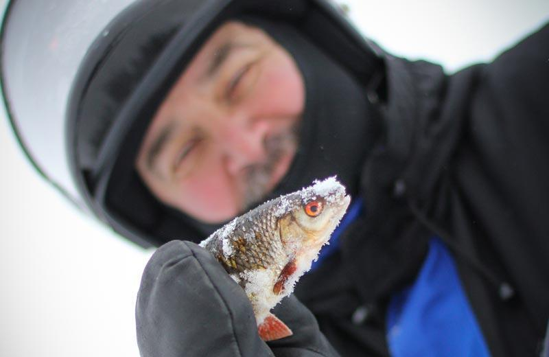 Ice Fishing Trip by Snowshoes