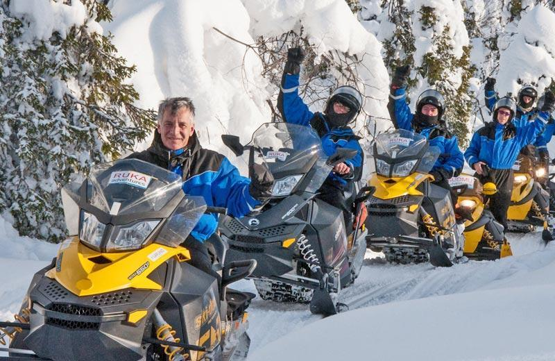 Snowmobilesafari to Pohjolan pirtti, Sauna and Dinner